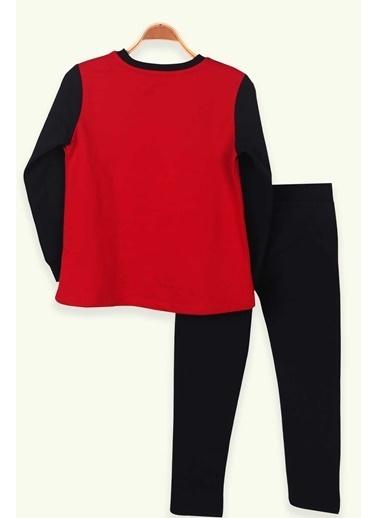 Breeze Kız Çocuk Eşofman Takımı Baskılı Pullu Kırmızı (6-12 Yaş) Kırmızı